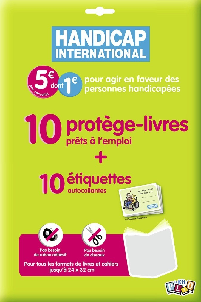 Kit Plio, 1 € reversé à Handicap International, en GMS et papeteries 5 €