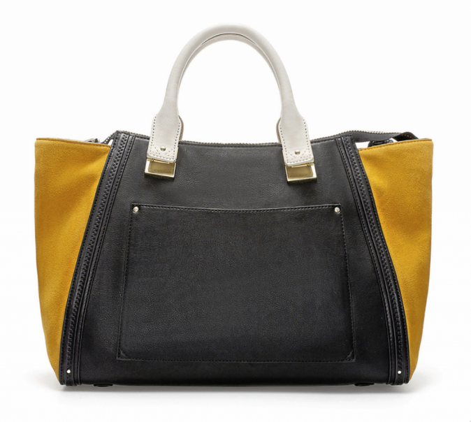 En croûte de cuir et similicuir, Zara 69€