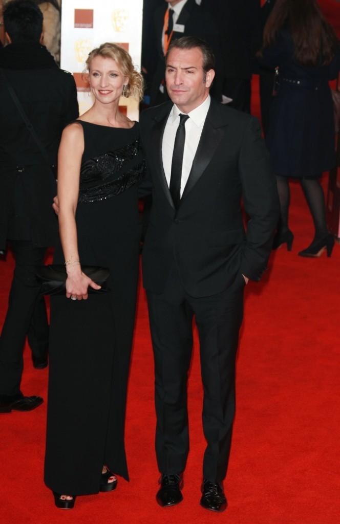 Février 2012 : Alexandra Lamy et Jean Dujardin à la cérémonie des BAFTA (Londres)