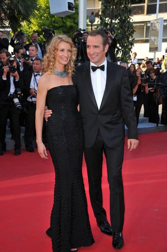 Mai 2011 : Alexandra Lamy et Jean Dujardin au Festival de Cannes