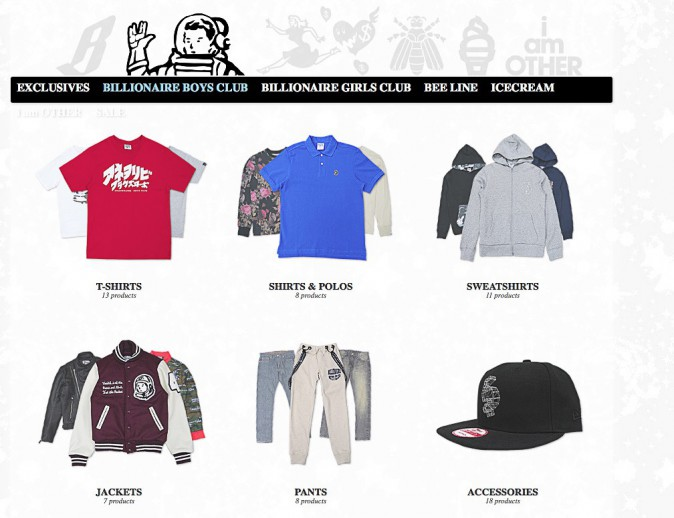 Billionaire Boys Club by Pharrell Williams : Ça va plaire aux... hipsters et hipsterettes en herbe !
