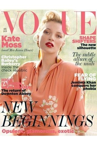 La couverture du Vogue UK en Août 2011 !