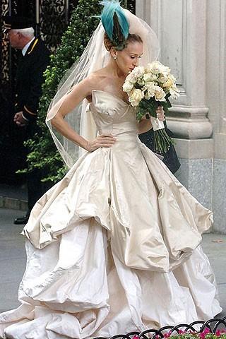 Sarah Jessica Parker avec sa robe démesurée
