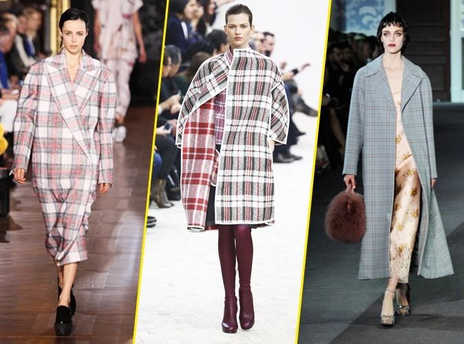 Le manteau à carreaux (Stella McCartney, Céline, Louis Vuitton) AH13/14