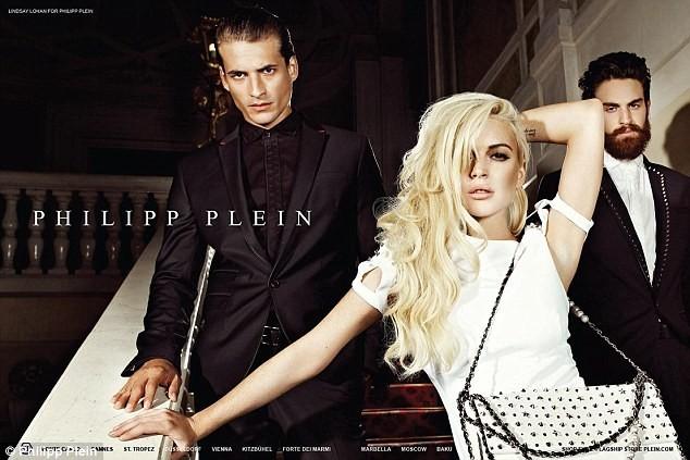 Lindsay Lohan photographiée par Grigor Balyan pour Philipp Plein