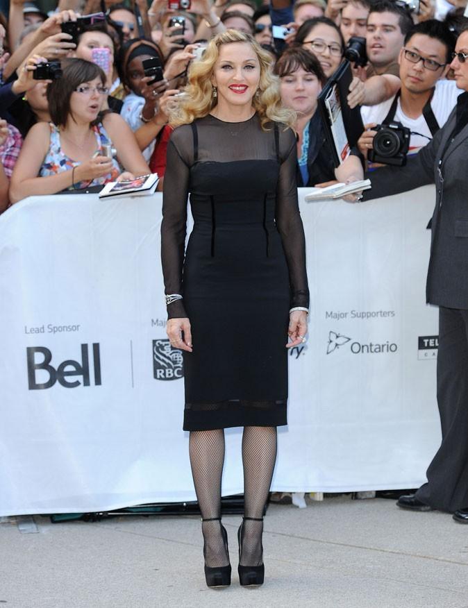 Vous l'aurez compris, Madonna préfère le noir !