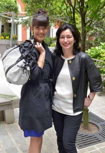 Mélanie Doutey et Marianne Romestain, présidente de Gerard Darel.