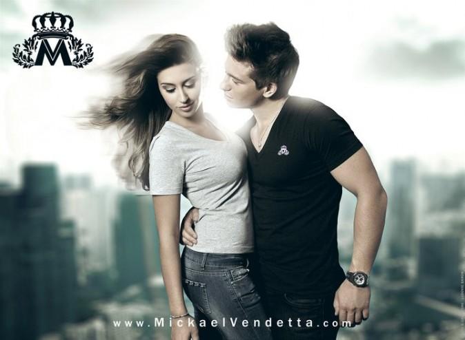 Mickael Vendetta et Martika Caringella (vue dans L'île des vérités) pour la campagne des polos MV