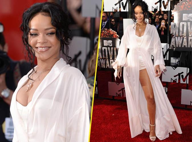 Rihanna en kimono de soie, sublime comme toujours