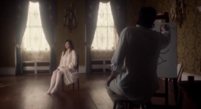 Mylène Jampanoï dans The Muse pour Agent Provocateur