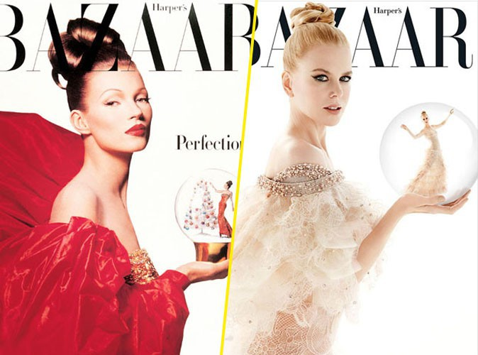 Mode : Nicole Kidman : elle copie Kate Moss pour la couverture du Harper's Bazzar Australien de décembre 2013 !