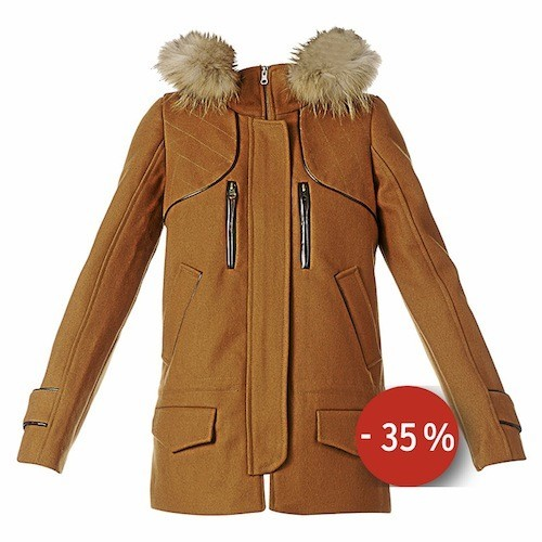 Manteau drap de laine Laab, 2two sur monshowroom.com