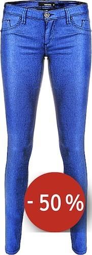 Pantalon slim bleu irisé sur tallyweijl.com