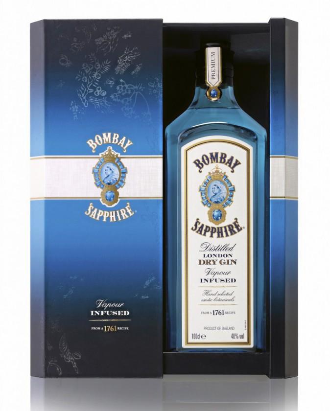 """Coffret collector """"dry gin"""" (disponible à partir du 1er décembre), Bombay Sapphire 25 €"""