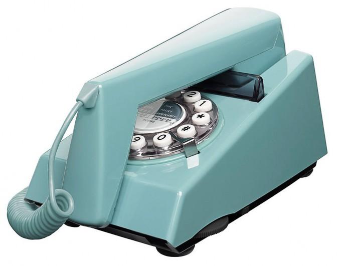 Téléphone rétro, Trim French Blue, place-a.com 52€