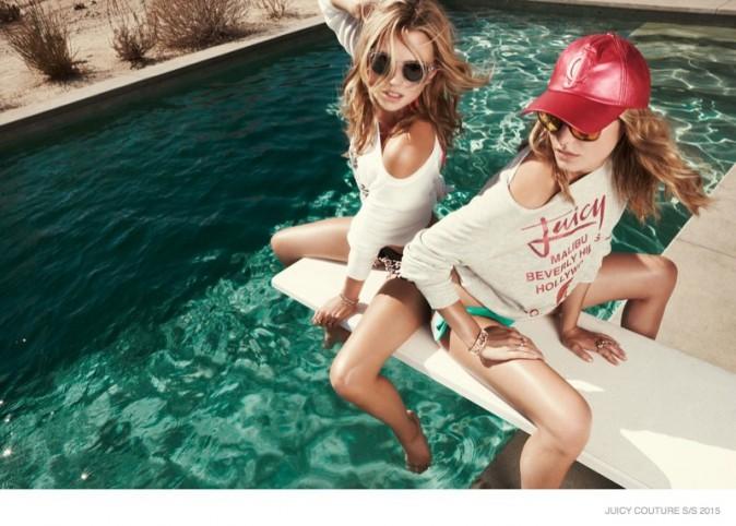 Mode : Photos : Camille Rowe et Cato Van Ee : un shooting sous le soleil californien pour Juicy Couture !