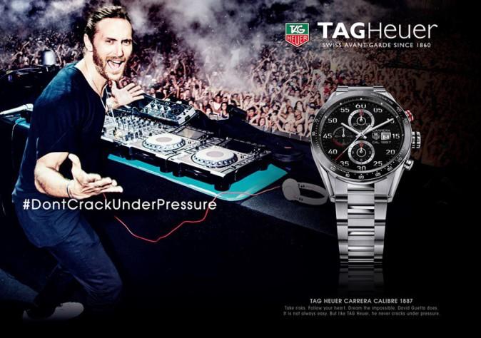 Mode : Photos : David Guetta x TAG Heuer : DJ enflammé pour leur nouvelle montre !