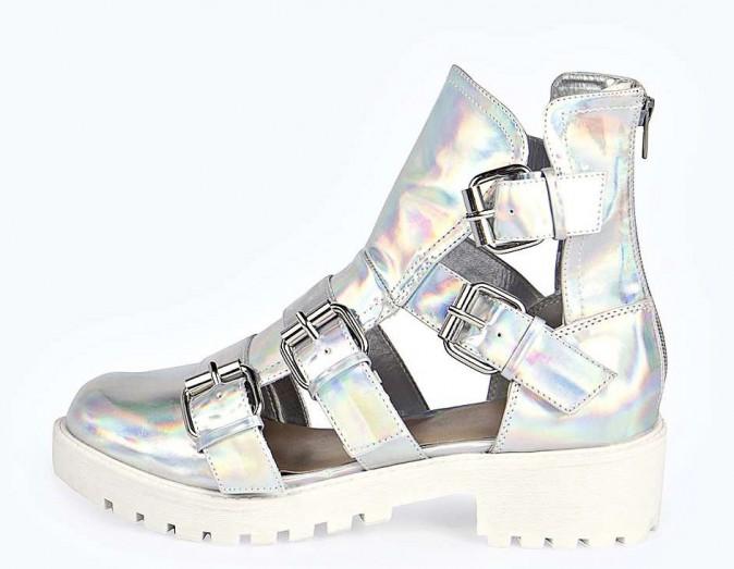 Le futur décalé :  Boots àcrantées, Boohoo 15€