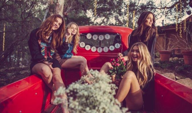 Mode : Photos :  Gigi Hadid, Barbara Palvin, Emily DiDonato, Lottie Moss : Têtes d'affiche de la nouvelle campagne très champètre by Rosa Cha !