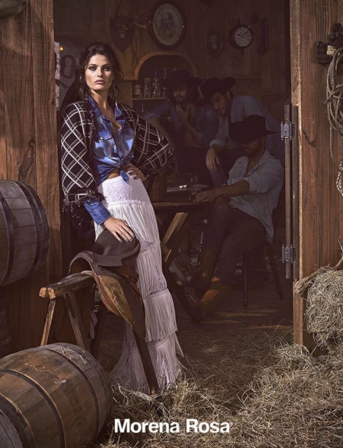 Mode : Photos : Isabeli Fontana : Cowboys et santiag dans un shooting super hot pour Morena Rosa !
