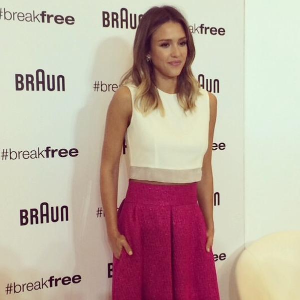 Mode : Photos : Jessica Alba : En bonne ambassadrice pour la promotion de Braun !