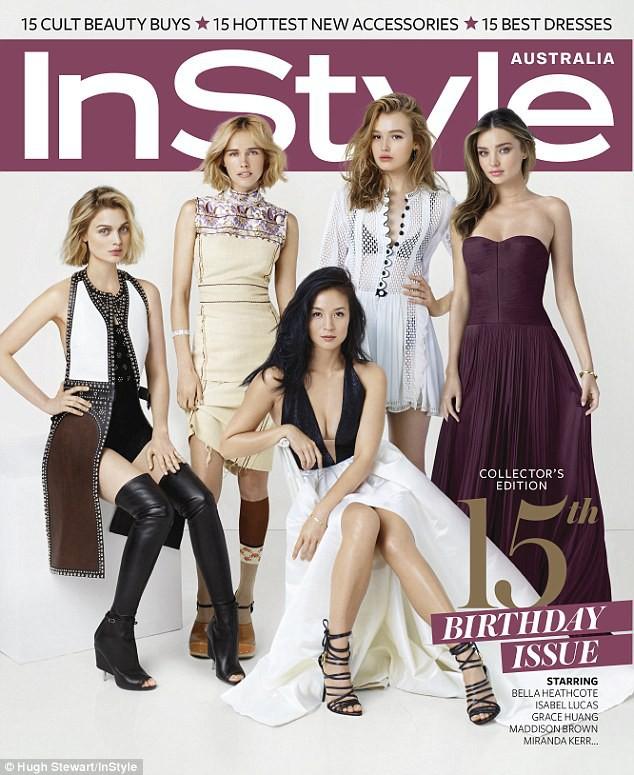 Mode : Photos : Miranda Kerr : Elle brille sur la couv' de Instyle Australia.