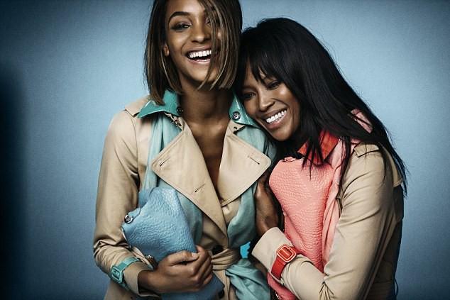 Mode : Photos : Naomi Campbell et Jourdan Dunn : duo inattendu et canon pour Burberry !