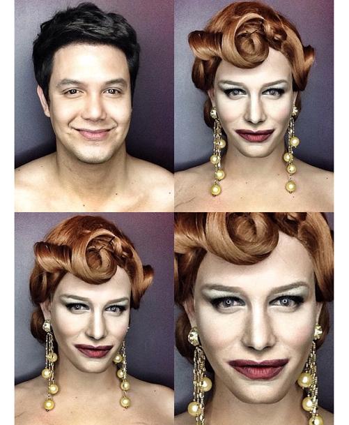 Paolo Ballesteros : Il se transforme en ...  Cate Blanchett!