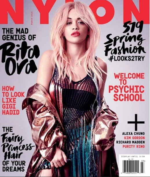 Mode : Photos : Rita Ora cover-girl du Nylon Magazine affiche des cheveux roses !