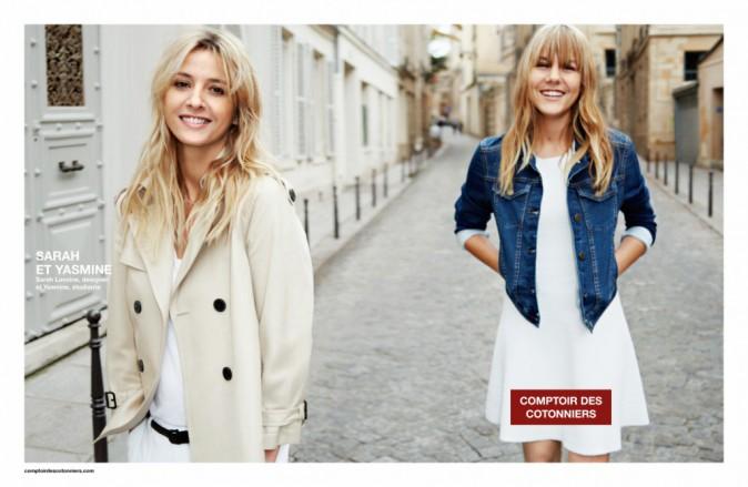Mode photos sarah et yasmine lavoine m re et fille complices pour comptoir des cotonniers - Nouvelle collection comptoir des cotonniers ...