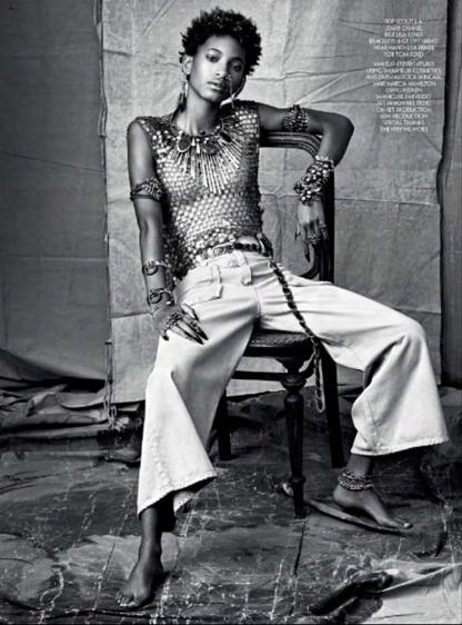 Mode : Photos : Willow Smith : A peine 14 ans, elle se la joue fatale du magasine CR Fashion Book !