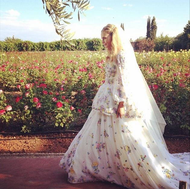 La robe Emilio Pucci de Poppy Delevingne
