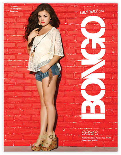 Lucy Hale pour la nouvelle collection de Bongo