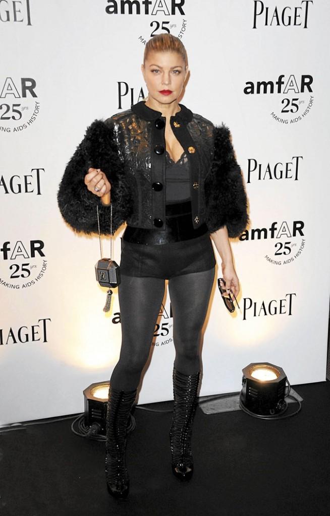 Fergie et son manteau en fourrure