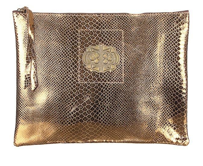 Pochette dorée Sous les pavés, Monshowroom 125 €