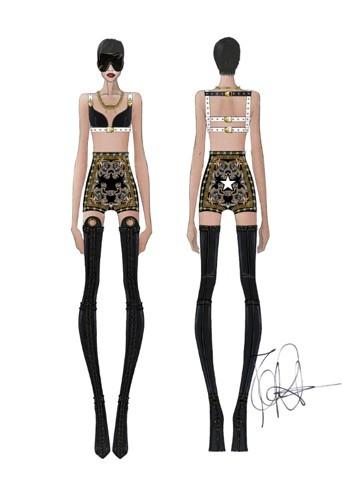 Short baroque et haut sexy en cuir Givenchy !