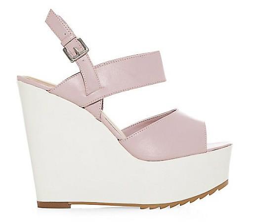 Peep toes à lanières roses, New Look, 34,99€