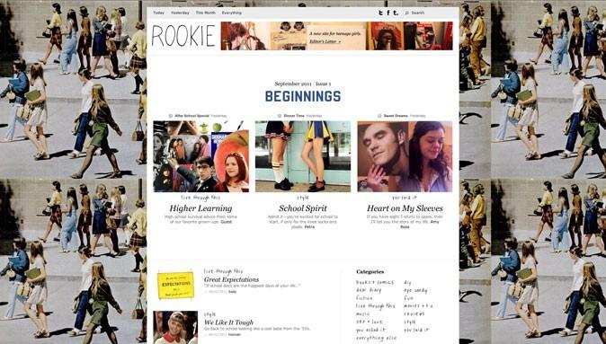 Le nouveau site Rookie Mag !