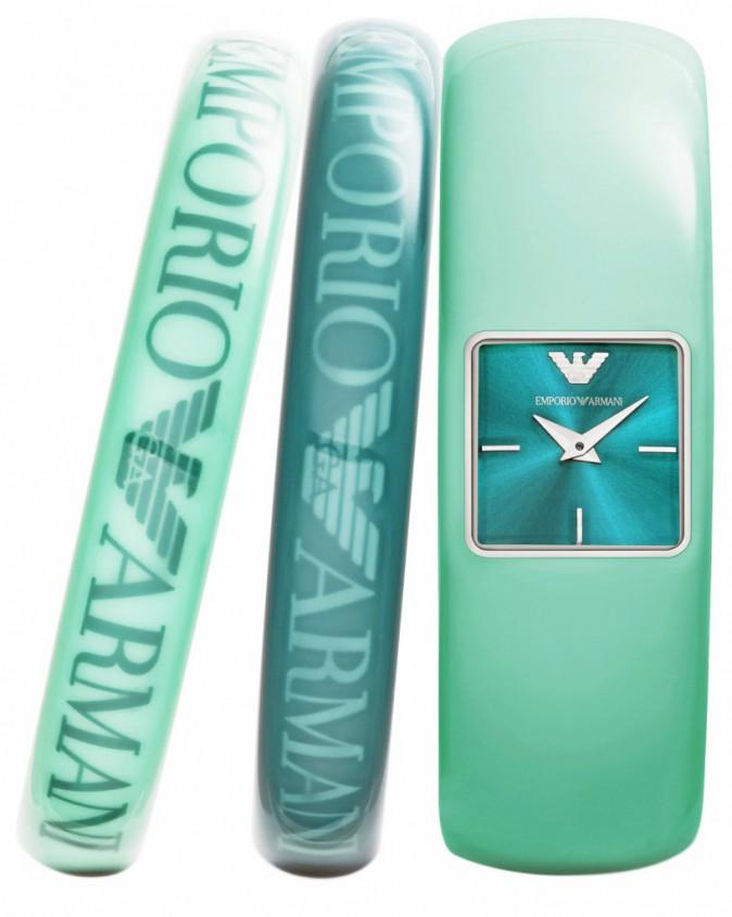 Montre bracelet et deux bracelets, Emporio Armani, 199€