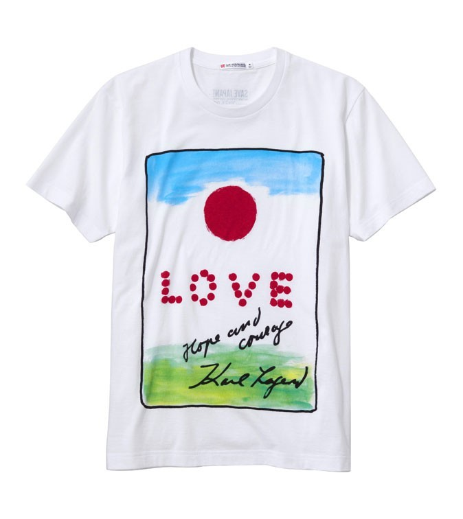 "Le T-shirt Uniqlo ""Save Japan !"" de Karl Lagerfeld !"