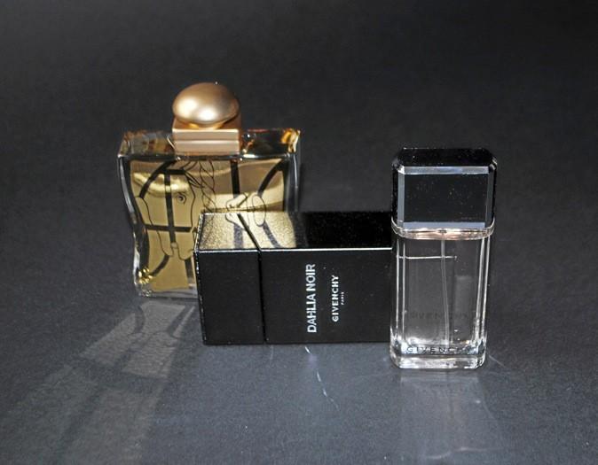 Eau de parfum 24, Faubourg, édition limitée, Hermès 87 € - Eau de parfum Dahlia noir, Givenchy 53,50 €