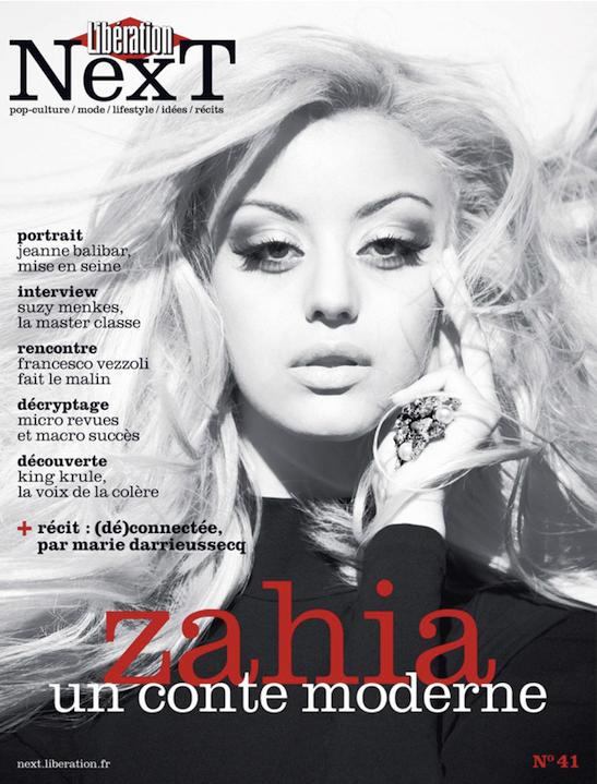 Zahia Dehar en couverture du magazine Next
