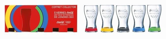 Coffret de cinq verres Coca-Cola