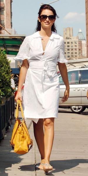La robe tunique de Penélope Cruz