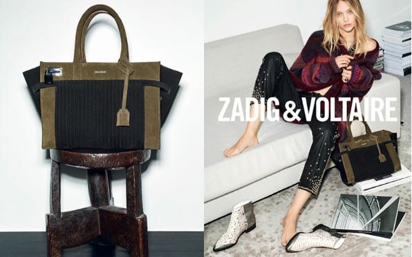 Sasha Pivovarova pour Zadig & Voltaire