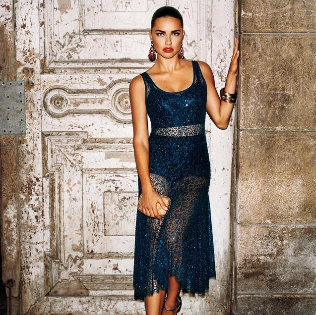 Adriana Lima pour W Magazine