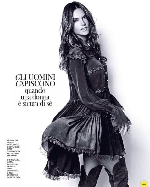 Alessandra Ambrosio pour Grazia Italie