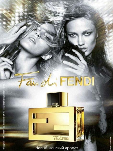 """Anja Rubik et Abbey Lee Kershaw pour le dernier parfum Fendi, """"Fan di Fendi"""""""