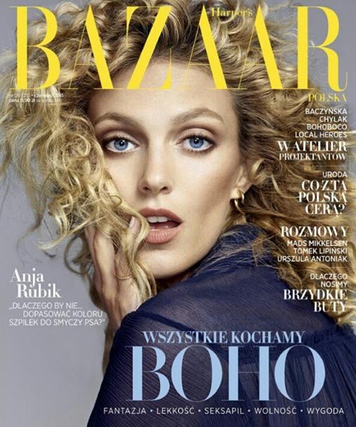 Photos : Anja Rubik se la joue hippie chic pour Harper's Bazaar !