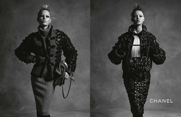 Lindsey Wixson et Anna Ewers pour Chanel